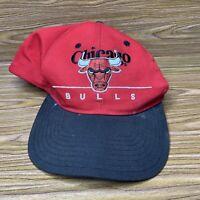 Chicago Bulls NBA Vintage 90's Twins Enterprise Adjustable Snapback Cap Hat Red