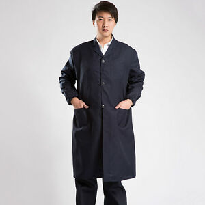 Unisex Safety Workwear Long Coat Working Uniform Dustproof Outerwear Top Fashion