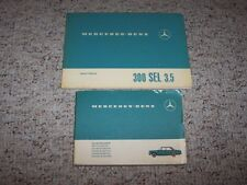 1970 Mercedes Benz 300SEL 300 SEL 3.5 Original Owner Manual w/ Service Booklet