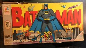 Vintage 1966 The Batman Game by Milton Bradley Board Game Almost Complete