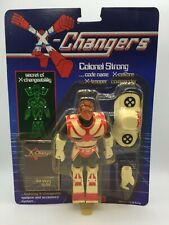 Vintage X-Changers Colonel Strong Action Figure Toy Complete MOC Acamas Toys