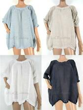 Unbranded Linen Casual Tops & Shirts for Women