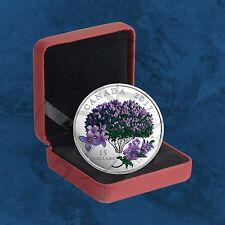 Canadá-Celebration of Spring-lilac Blossoms - 15 $2017 pp plata-Primavera