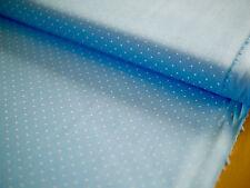 HILCO Baumwolle, HILDE, Stoff, Tupfen, Punkte,gepunktet hellblau-weiß