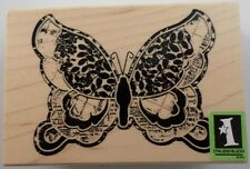 Inkadinkado Whimsical Collage Butterfly Wooden Rubber Stamp