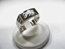 925 hombres de plata anillo grabado las iniciales incluidas en el precio