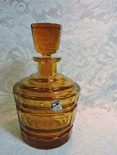 Bohemian Crystal Czechoslovakia BPJ Amber Crystal Decanter
