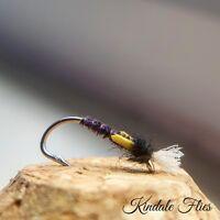 Lightweight Purple Buzzers size 10 (Set of 3) Fly Fishing Flies