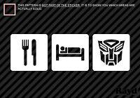 2x Transformers adhésif coller sur Autobots /& Decepticons Voiture /& Camion emblèmes new in package