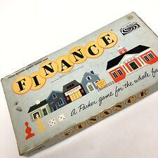 FINANCE Board Game 1958 Vtg Parker Bros. Business Trading