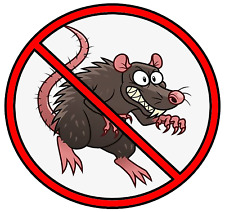 No Rats Organized Labor Hard Hat Tool Box Construction Sticker Decal Funny