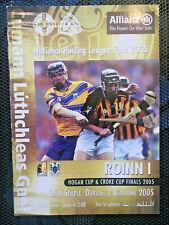 2005 GAA NHL Final Clare v Kilkenny Programme