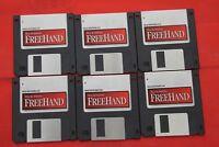 "Macromedia Freehand 5.0 1-6 3.5"" Floppy Disk Disc Software Apple Mac"