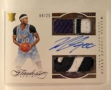 Willie Cauley-Stein # 04/25 Dual Patch Auto RC 2015-16 Panini Flawless