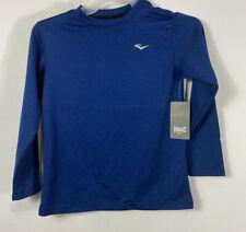 EVARLAST Boy's Dri Fit T Shirt Athletic Tee Long Sleeve Size M 5/6 Blue
