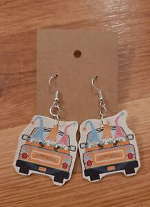 Easter Gnomes Light Weight Faux Leather Dangle Earrings