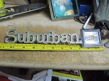 1975 1979 chevrolet suburban emblem 345842 badge chrome logo back door gate oem