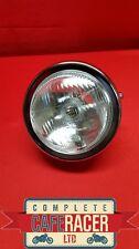 """(HL8c) CAFE RACER MOTORCYCLE SIDE MOUNT CHROME HEADLIGHT LAMP 5""""1/2"""" LENSE"""