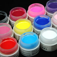 Coscelia 12 Color Solid Pure UV Builder Gel Nail Art Deco Tips Polish Pro Set UK