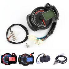 Universal LCD Digit 15000rpm Motorcycle Speedometer Gauge Tachometer Odometer