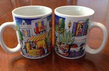 CAFE MEDITERRANEAN Coffee Cup / Mug Set - Set of 2