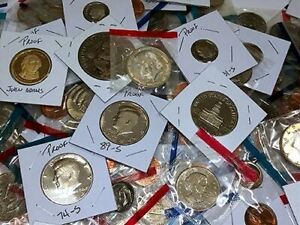 Proof Coin Lots - 11 Proof and Mint coins PLUS 50+ year old, 5 coin BONUS! -XN2