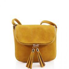 Girls Ladies 2027 Twin Tassel Zipped Flap Small Cross Body Bag Women Messenger