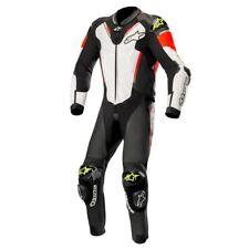 Alpinestars Atem V3 1PC Leather Motorcycle Suit Blk/Wht/Red Fl/Yell Fl EURO 50