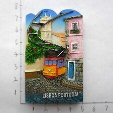 FRIDGE MAGNET TOURIST SOUVENIR FAVORITE RESIN Collect 3D-Lisbon, Portugal