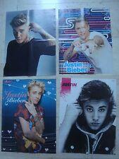 4 fantastic JUSTIN BIEBER  magazine poster LARGE  lot #4