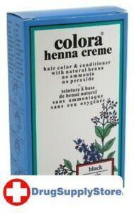 BL Colora Henna Creme Hair Color Black 2 oz - Two PACK