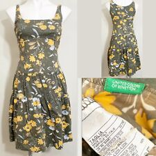 United Colors of Benetton Vintage Floral Print Sleeveless Dress Women's Size S
