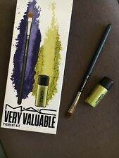 New! M•A•C most valuable Small Eyeshader Brush  #248   + MAC Pigment CHARTREUSE