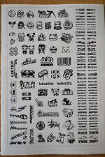 RC DRIFT JDM CAR - BLACK Decal Sticker Label Yokomo MST HPI Tamiya Overdose