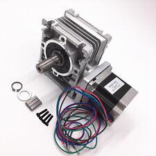 Nema23 Ratio 101 201 301 Rv30 Turbine Worm Gearbox Geared Stepper Motor New