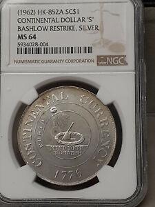 1961 Continental BASHLOW Restrike Issue Dollar SC$ HK-852A NGC MS64 SILVER GEM