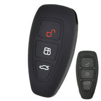 Silicone Key Cover Case Fob For Ford Focus Fiesta Kuga C-Max Galaxy Skin Shell