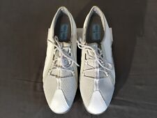 Mens Size 11 Footjoy White Leather Spiked Golf Shoes Medium Width Style 98854