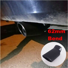 Stainless Steel Car Accessories Rear Bend Exhaust Pipe Tail Muffler Tip 62mm
