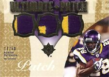 Adrian Peterson 2009 Ultimate Collection Triple 2-Color Patch 17/50 Vikings Mint