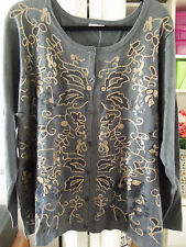Stunning JOAN RIVERS Sequined Button Front Sweater Top-Size 3X-NEW-$80