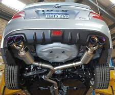 """Unknown Performance V2 3"""" Cat Back Exhaust WRX MY15/16/17 Burnt Dual Wall Tips"""