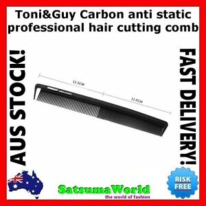 TONI&GUY Carbon Fibre Cutting Comb Hair Sectioning Anti Static TONI AND GUY NEW
