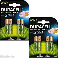 8 X AAA Duracell Recargables 850 Mah Pilas 850mAh Ultra Pre Cargado