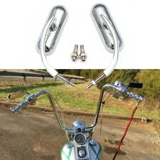 Chrome Motorcycle Rearview Mirrors for Harley Davidson Heritage Softail Fatboy Q(Fits: Mastiff)