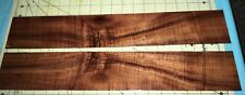 """Two Resawn Bookmatched Extreme Curly Koa Veneer Boards~19"""" x 3+"""" x 1/8"""" ~ (#971)"""