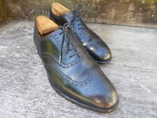 CROCKETT & JONES BROGUES – BLACK - UK 8.5 –  LONDON - GOOD CONDITION