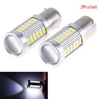 LED Car 2x White Bulbs BA15S P21W 1156 Backup Reverse Light 12V 33-SMD 5630 mi