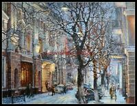 Chart Needlework Crafts DIY - Counted Cross Stitch Patterns - The Winter City