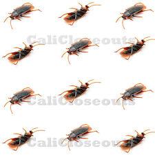 12 pcs Brand New Realistic Simulation Cockroach Plastic Rubber Roach Bug
